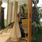 Wedding Harpist at Usk Castle