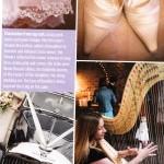 Harpist in Perfect Wedding Magazine - Shelley Fairplay